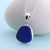 Beautiful Blue Sea Glass Pendant