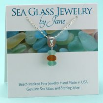Nature Colors Sea Glass Stack Pendant