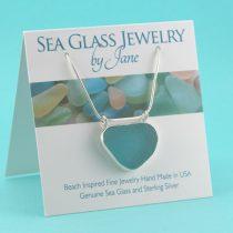 Spectacular Aqua Sea Glass Pendant