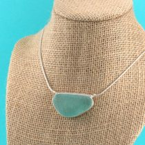 Spectacular Aqua Sea Glass Pendant