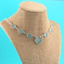 Sky Blue Aqua Sea Glass Necklace