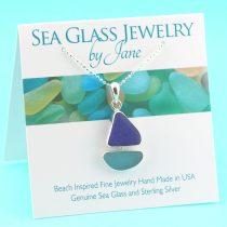Blue-&-Aqua-Sea-Glass-Sailboat-Pendant