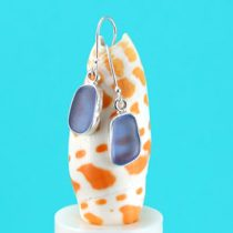 Cheery Cornflower Blue Sea Glass Earrings
