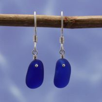 Awesome Cobalt Blue Sea Glass Earrings