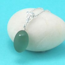 Gorgeous Teal Sea Glass Pendant
