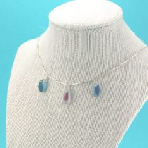 Three Multis Sea Glass Necklace