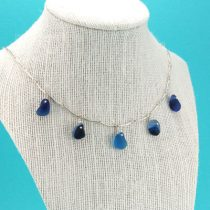 Got The Blues Sea Glass Necklace