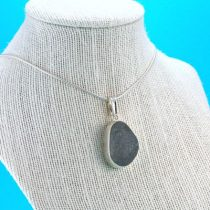 Frosty Gray Sea Glass Pendant