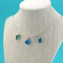 Teal & Blue Multi Sea Glass Necklace
