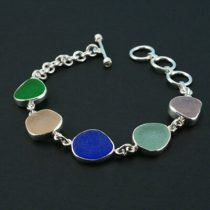 Colorful Rainbow Sea Glass Bracelet