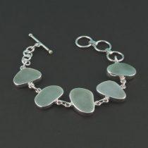 Sweet Sea Foam Sea Glass Bracelet