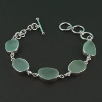 Sweet Sea Foam Green Sea Glass Bracelet