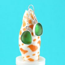 Luscious Lime Green Sea Glass Earrings