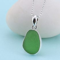 Lively Lime Green Sea Glass Pendant