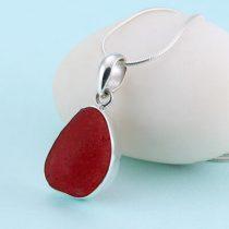 Regal Red Sea Glass Pendant