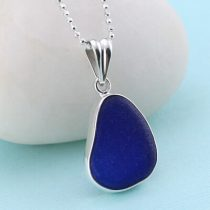 Charming Cobalt Blue Sea Glass Pendant