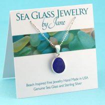 Small Cobalt BLue Sea Glass Pendant N1016-Small-Cobalt-Blue-Sea-Glass-Pendant