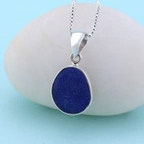 Small Cobalt Blue Sea Glass Pendant