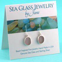 Lovely Lavender Sea Glass Earrings
