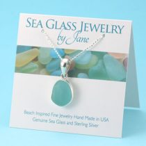 Alluring Aqua Sea Glass Pendant