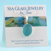 Beautiful Aqua Sea Glass Pendant