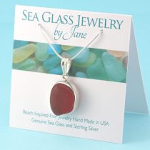 Cherry-Red-Sea-Glass-Pendant-Bezel-Set