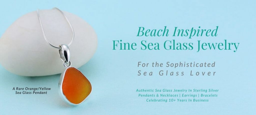 Sea Glass Jewelry by Jane Home Page Orange Sea Glass Pendant