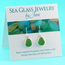 Luscious Lime Green Sea Glass Earrings