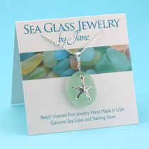 Super Sea Foam Sea Glass Starfish Pendant