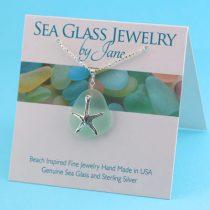 Super Sea Foam Sea Glass Starfish Pendant
