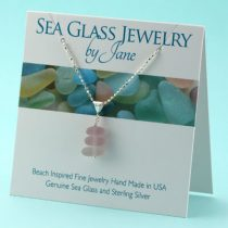 Lavender Sea Glass Stack Pendan