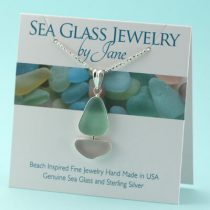Soft Colors Sea Glass Sailboat Pendant