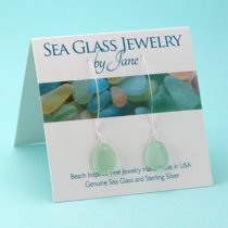 Elegant Sea Foam Sea Glass Earrings