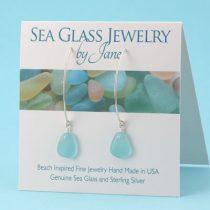 Perfect Aqua Sea Glass Earrings