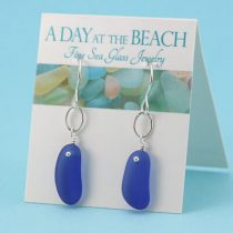Captivating Cobalt Blue Sea Glass Earrings