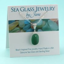 Perfect Olive/Teal Sea Glass Pendant
