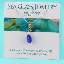 Beautiful-Blue-&-White-Sea-Glass-Pendant