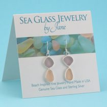 Lavender & Pink Sea Glass Earrings
