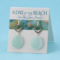 Sky Blue Sea Glass Earrings