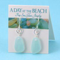 Lovely Sky Blue Sea Glass Earrings