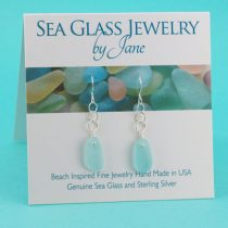 Lovely Sky Blue Sea Glass Earrings