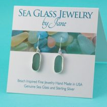 Perfect Aqua Sea Glass Earrings