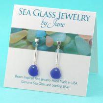 Classy-Cobalt-Blue-Sea-Glass-Earrings
