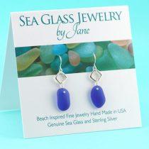 Elegant-Cobalt-Blue-Sea-Glass-Earrings