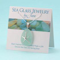 Surreal Sea Foam Sea Glass Starfish Pendant