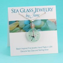 Surreal Sea Foam Sea Glass Pendant