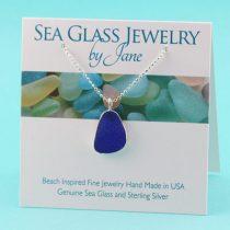 Beautiful Blue Sea Glass Pendant