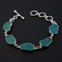 Terrific Teal Sea Glass Bracelet