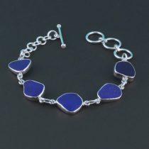 Beautiful Cobalt Blue Sea Glass Bracelet