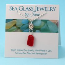 Red Sea Glass Infinity Pendant